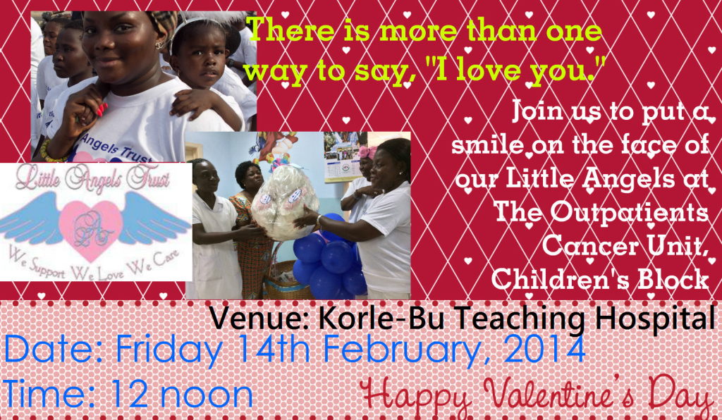 Valentine's Day visit to the the Cancer Ward and Outpatients Cancer Unit of the Korle-Bu Teaching Hospital